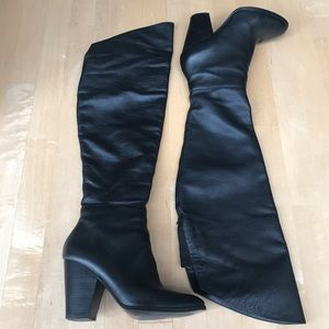 Steven by Steve Madden Black Over the Knee Boots
